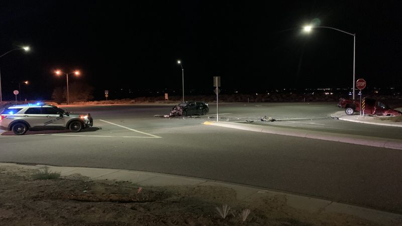 NHP investigates a crash on US 395 near Plymouth Drive.