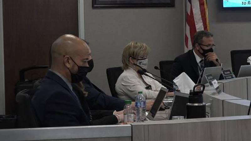 Washoe County School Board meeting taking place