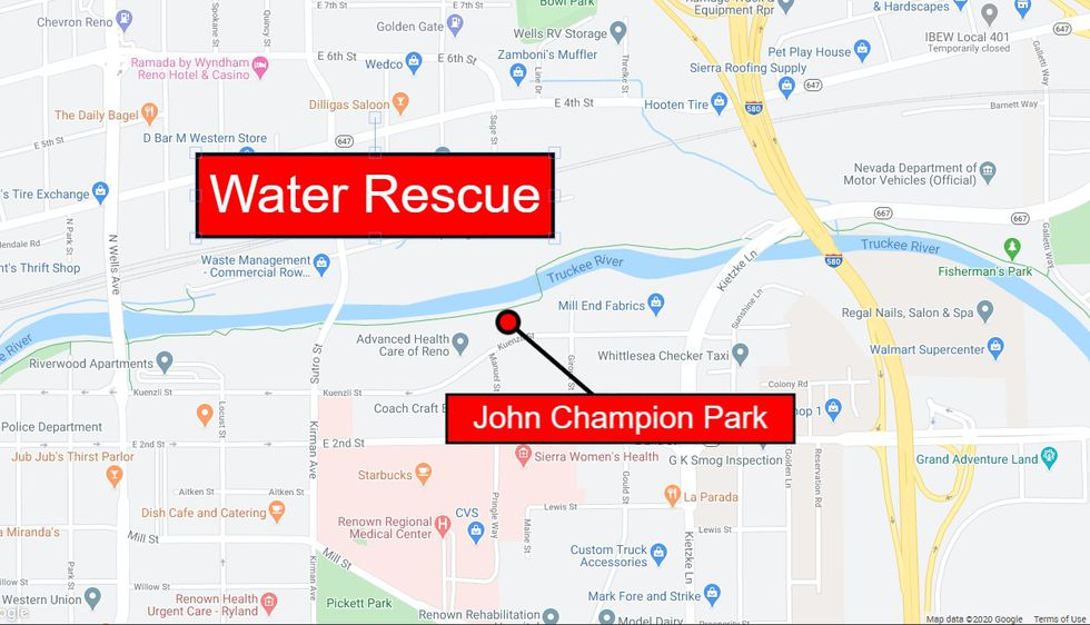 Reno Fire pulled a man from the Truckee River near John Champion Park.