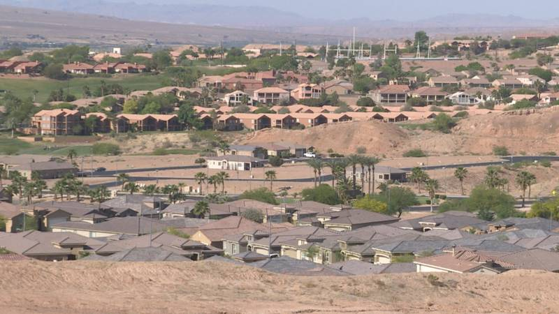 Mesquite, Nevada is located in eastern Clark County.
