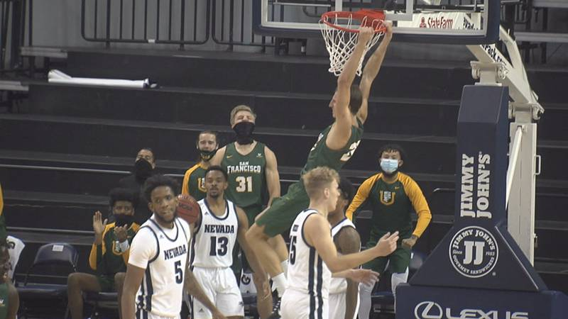 San Francisco flew past Nevada inside Lawlor Events Center, using a 21-6 run in the 2nd half to...