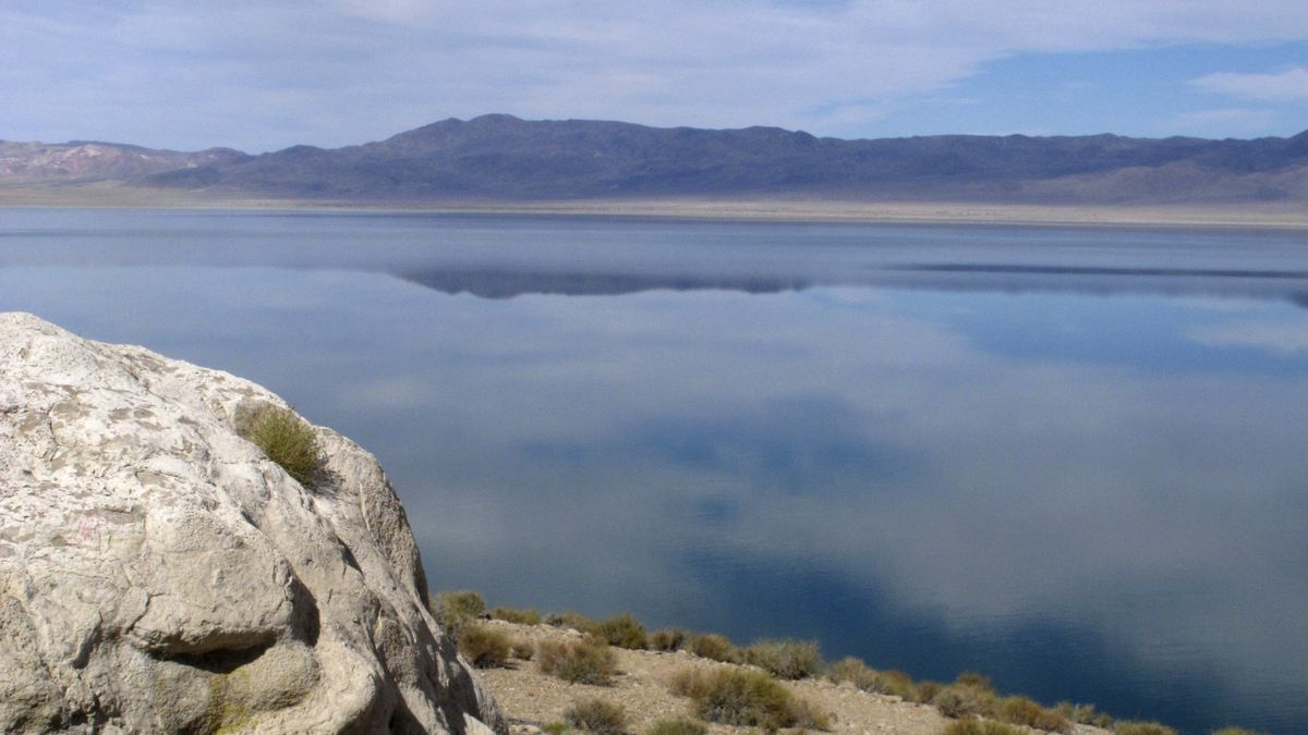 In this July 29, 2019, file photo, Walker Lake, about 100 miles southeast of Reno, Nev., is viewed. Mineral County and the Walker Lake Working Group announced this week that they intend to bring their legal battle over whether Nevada can adjust already allocated water rights to sustain rivers and lakes long-term back to federal court. (AP Photo/Scott Sonner, File)