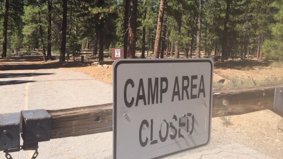 Campground at Stampede Reservoir in the Tahoe National Forest closed Sept. 8,2020