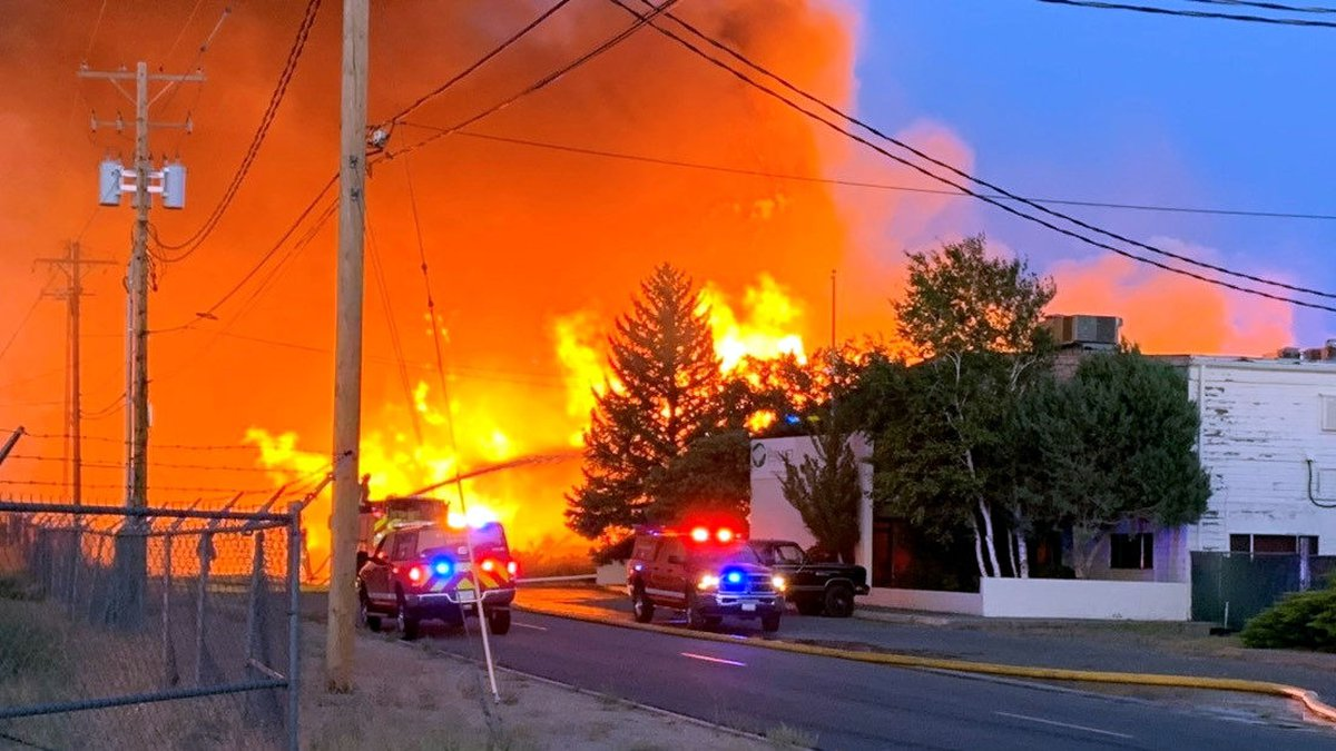 The fire on Bravo Avenue in Stead. Photo by George Guthrie/KOLO.