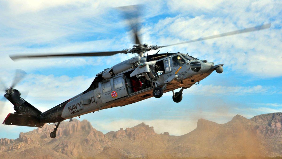 A Navy MH-60 Knighthawk from Davis-Monthan Air Force Base, Ariz.