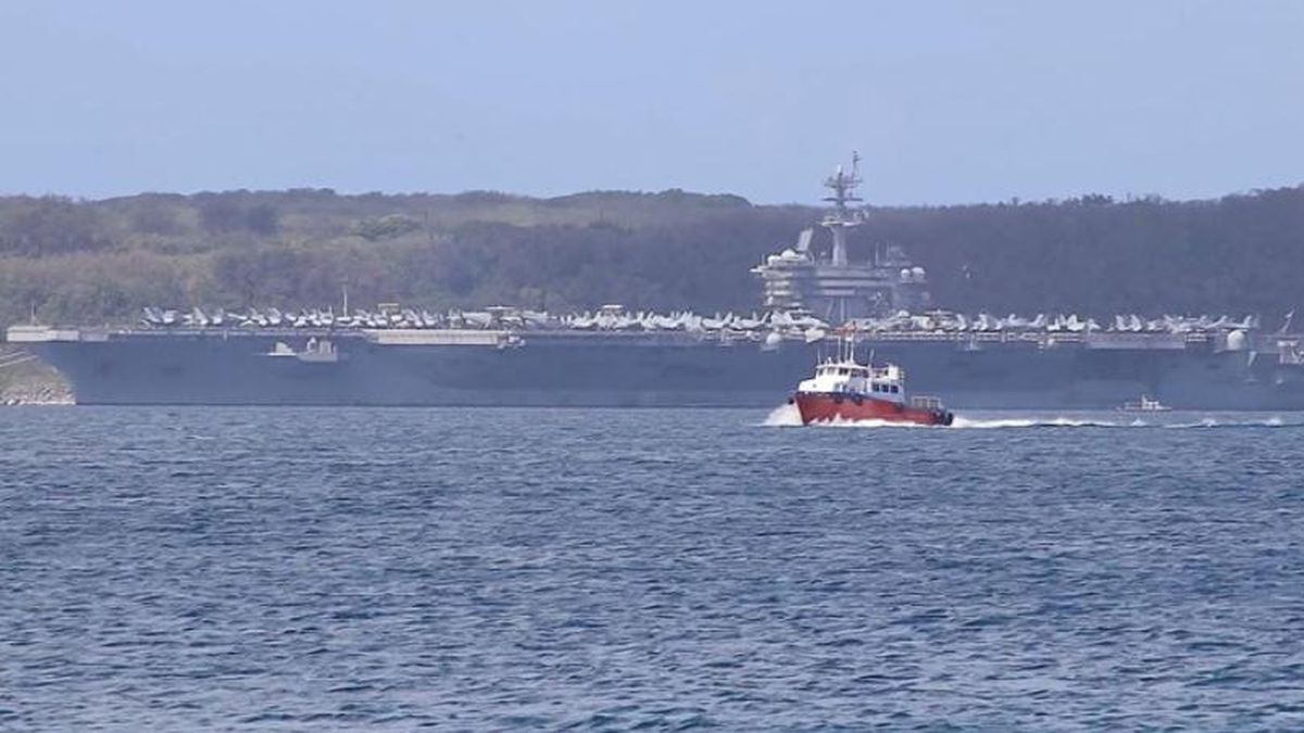 The USS Theodore Roosevelt is seen in this file photo. The crew's coronavirus troubles haven't ended. (Source: CNN/file)