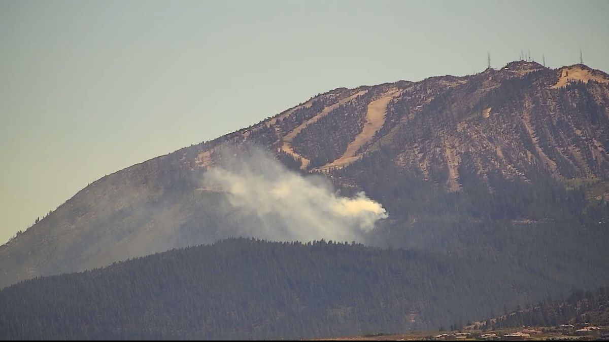 Crews are responding to a fire on Mount Rose.