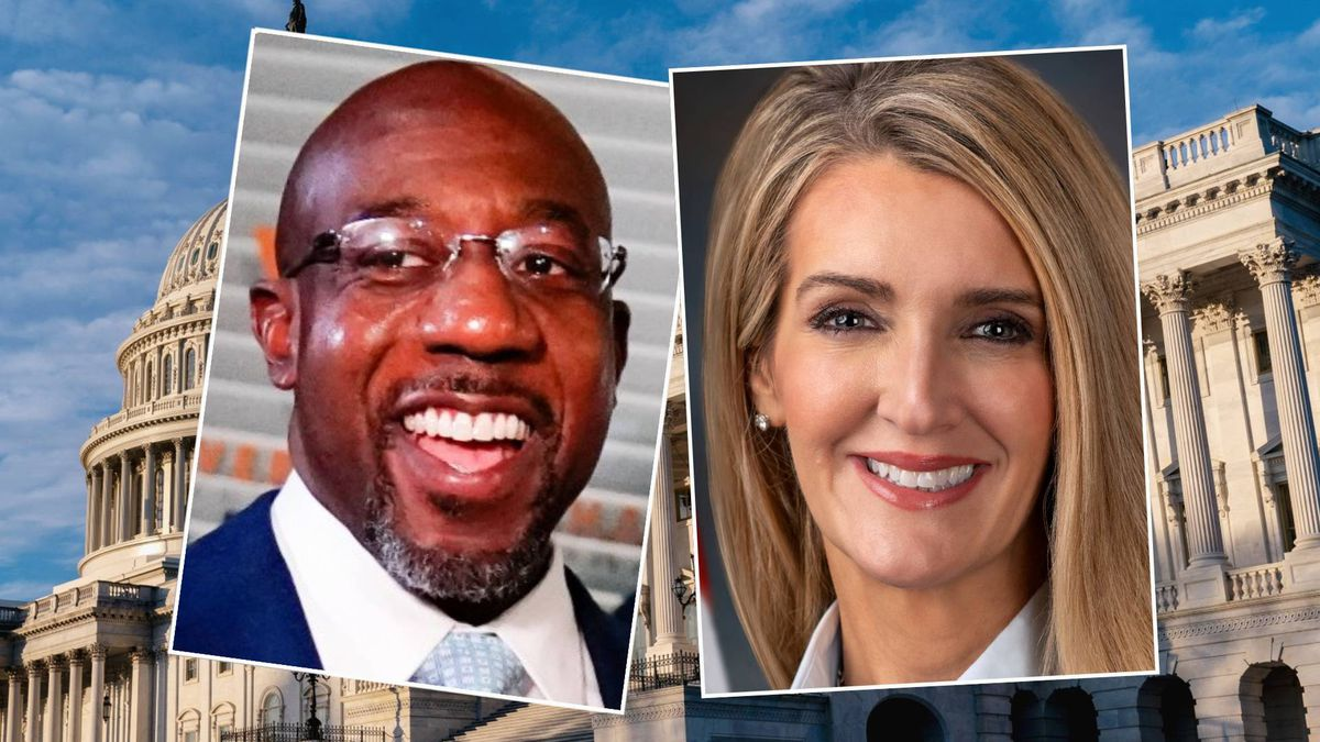 From left: Raphael Warnock and Kelly Loeffler