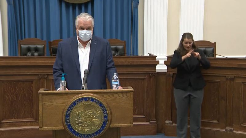 Gov. Sisolak gives an update on Nov. 10, 2020 regarding the the state's response to the...