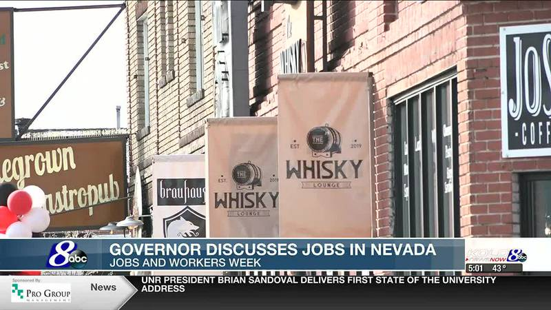 Governor Sisolak talks jobs in Nevada during Jobs and Workers Week