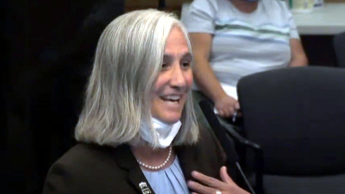 Jenny Brekhus at a Reno City Council meeting.
