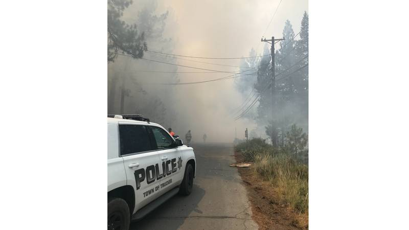 Police respond to the scene of a crash involving a small plane in Truckee.