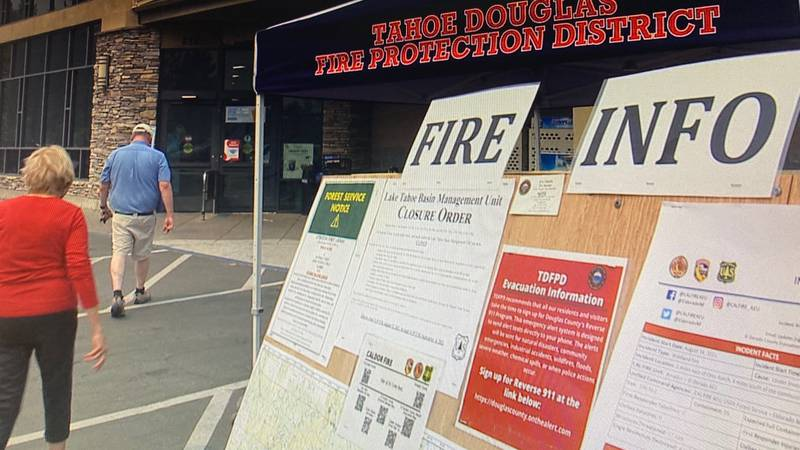Fire information booth at Round Hill, Lake Tahoe