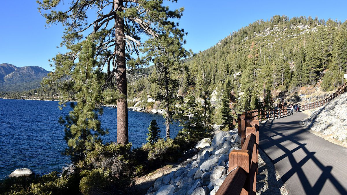 The Tahoe East Shore Trail near Incline Village.