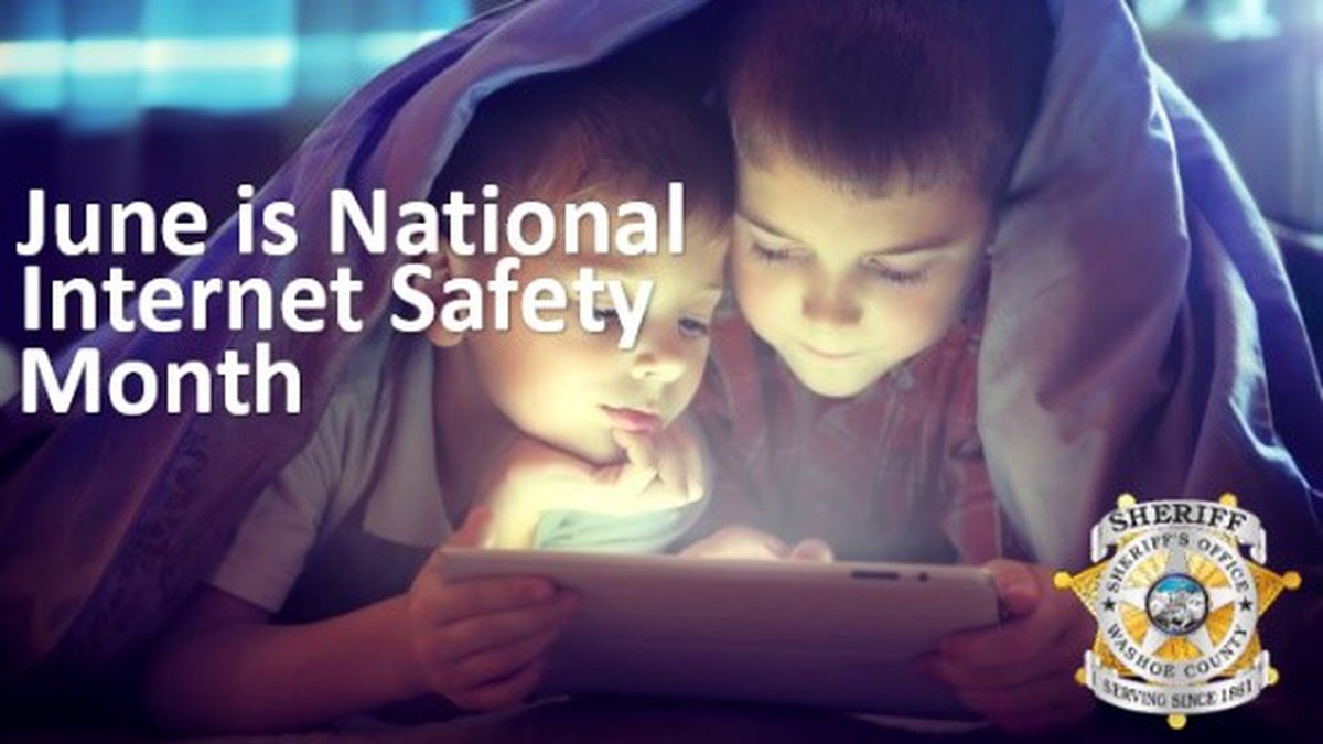National Internet Safety Month. Washoe County Sheriff's Office graphic.