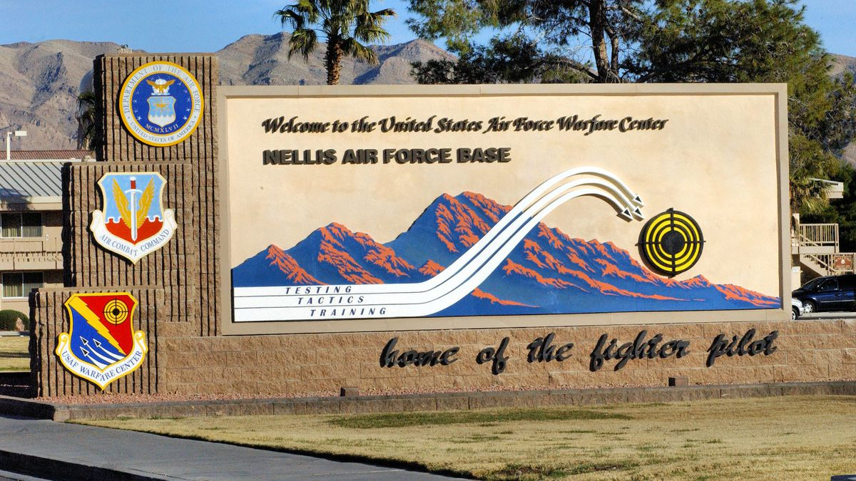 An entrance to Nellis Air Force Base.