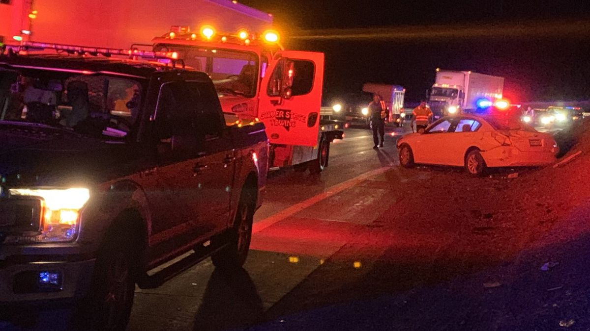 A crash on I-80 near Mustang causing delays for eastbound traffic.