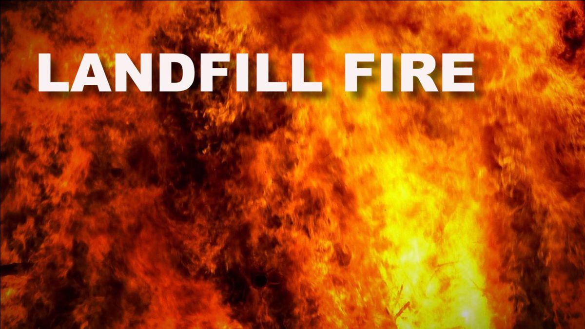 Landfill fire graphic