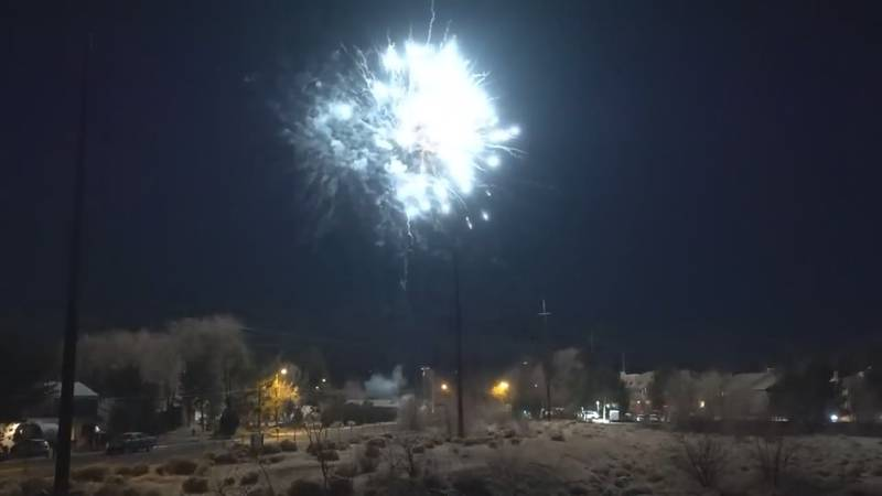 Illegal fireworks were set off on new year's eve on Idlewild Drive in Reno.