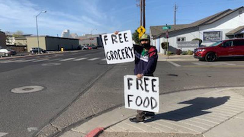 Church distributes free food boxes