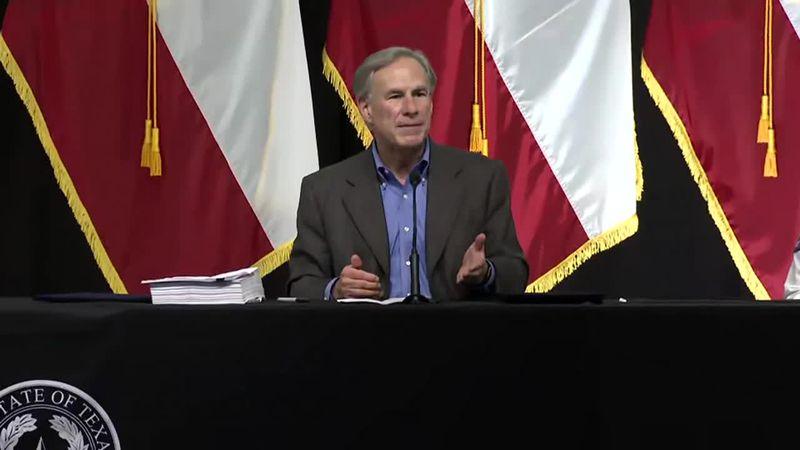 Texas Gov. Greg Abbott announces a plan to build a border wall and arrest migrants.