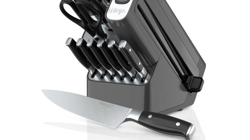 The Ninja™ Foodi™ NeverDull™ Premium 14-Piece Knife System maintains superior sharpness thanks...