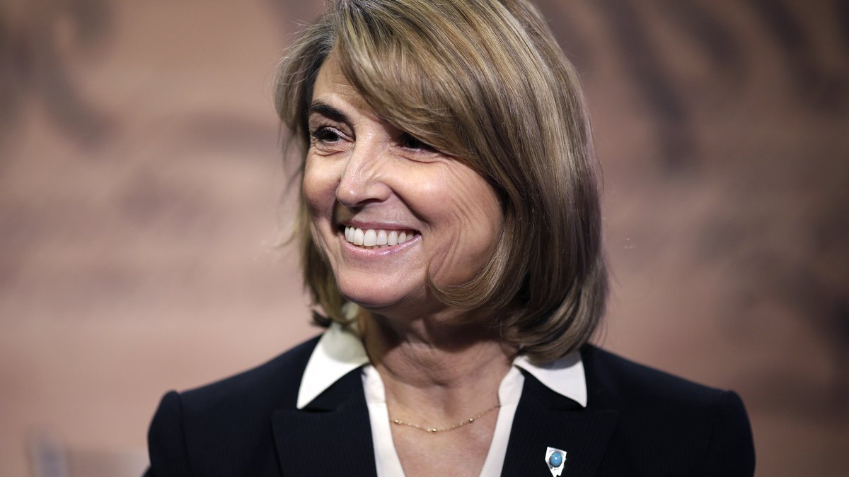 This Oct. 3, 2014 file photo Nevada state treasurer Kate Marshall smiles before a debate...
