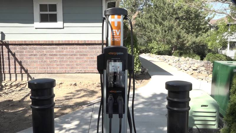 The Vista Ridge Apartments in west Reno recently installed four electric car chargers.