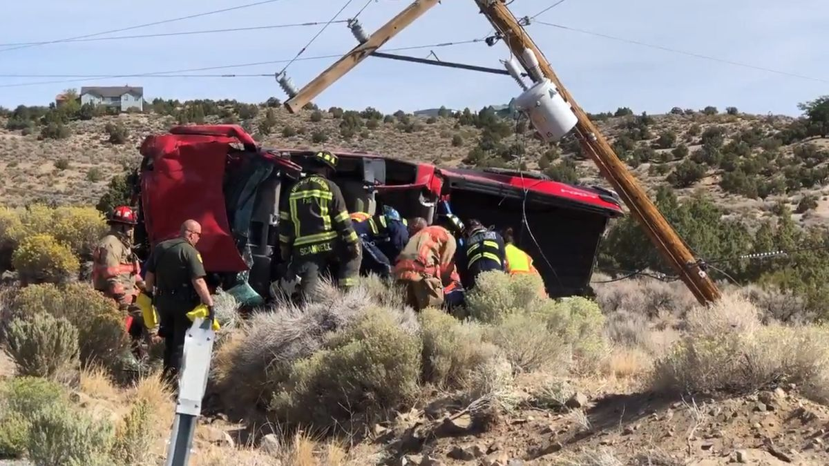 A driver crashed into a power pole Friday morning after authorities said he caused an earlier crash.