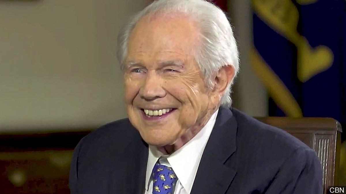 CBN's Pat Robertson during an interview with President Donald Trump, Photo Date: 7/12/2017 Photo: CBN
