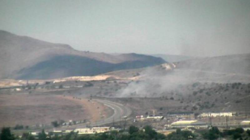 The Flint Fire is burning along Highway 50 in Carson City.