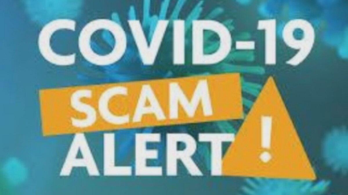 COVID scam alert.