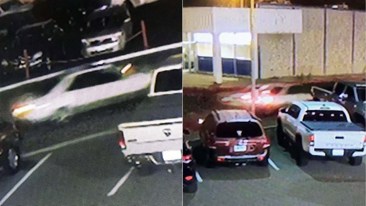 The Sparks Police Department said people were firing shots at this white car as it left the...