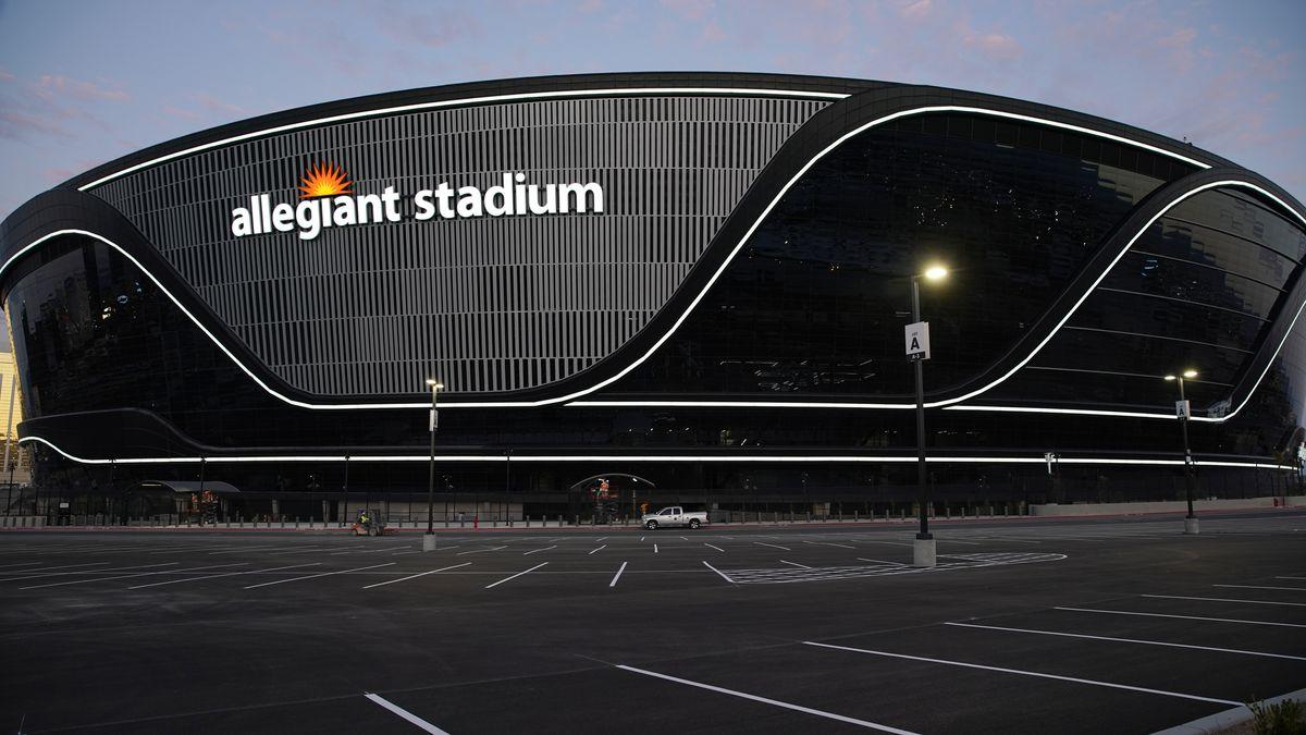 Photo of Allegiant Stadium, the new home of the Las Vegas Raiders football team (AP Photo/John Locher)